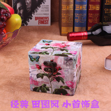 The new manual box factory wholesale European style retro fake suitcase wooden storage box to do the old time box(China)