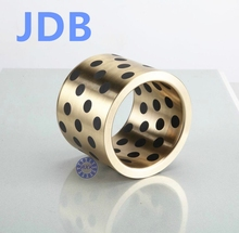Buy JDB 142012 oilless impregnated graphite brass bushing straight copper type, solid self lubricant Embedded bronze Bearing bush