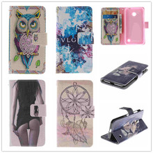 Luxury Cartoon Tiger Flip Wallet PU Leather Case Cover For Nokia Lumia 630 635 N630 N635 Phone Case stand With Card Holder