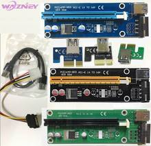 PCI-E PCI E Express 1x to 16x Riser card Extender Adapter USB 3.0 Cable Molex Power Supply For Bitcoin BTC Litecoin Miner 100set