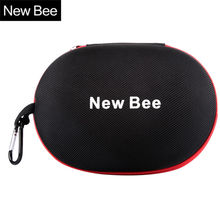 New Bee Portable Headphone Case Storage Headset Box High Quality Earphone Accessory Earbuts Bag for Wireless Wired Headphones(China)