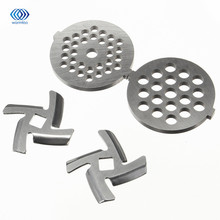 Meat Grinder Blade Spare Part  Stainless Steel 2 Pcs  Meat Chopper  + 2 Pcs  Cutter Blade For MG30/60