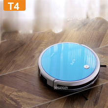 T4 100-240V Mini Robot Vacuum Cleaner for Home 22W Automatic Sweeping Dust Sterilize Smart Planned Mobile App 2600mah Battery(China)