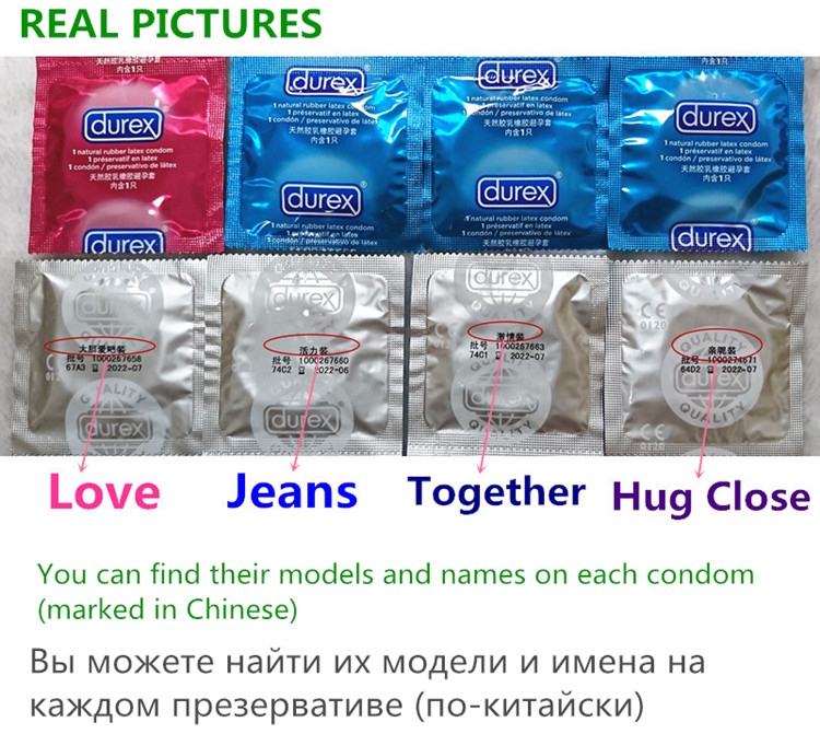 Durex Condoms 32 Pcs/Box Natural Latex Smooth Lubricated Contraception 4 Types Condoms for Men Sex Toys Products Wholesale 9