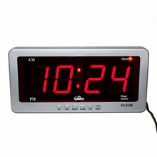 Digital LED Alarm Clock Large Number Desk Clocks Electronic AC Powered Led Wall Clock Red Display Watch Modern Home Decoration