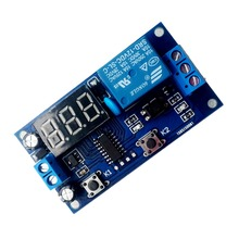 Free Shipping For DC 12V Digital Display Trigger Cycle Time Delay Relay Module Board Top Sale