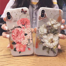 SoCouple Flower Patterned Case For iPhone 6 6s 6plus Cover Soft Silicone Floral Protect Cover For iPhone 7 8 Plus X Phone Cases(China)