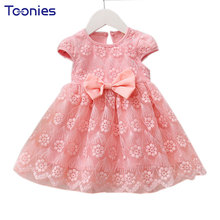 Lace Girl Dress Flowers Baby Girls Dresses Summer New Fashion Kids Clothing Lovely Princess Party Costumes Wedding Vestidos 1-3Y
