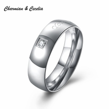 Wedding Couple Rings for Men and Women Lovers' Gifts Zircon Costume Jewelry Ring Anel Masculino Jewelery Anillos