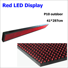 Outdoor 41*297cm P10 LED screen 320*160mm p10 led module red p10 led display board outdoor message advertising board(China)