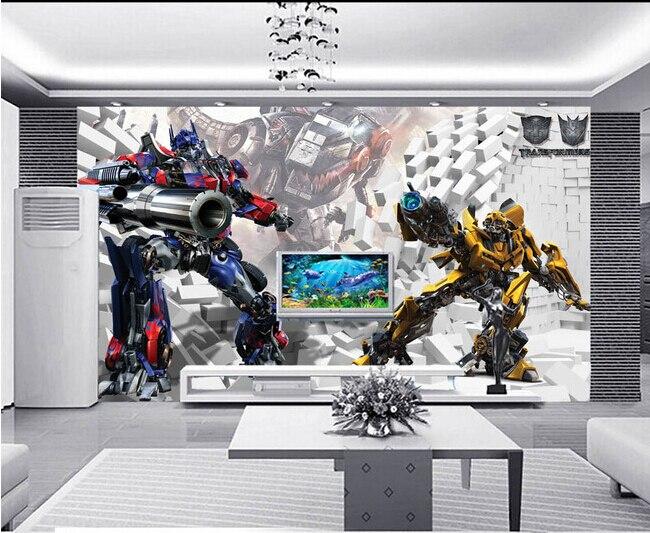 Custom 3D murals,3D stereo robot papel de parede, living room sofa TV wall children bedroom wall paper<br>