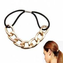 Metal New Girl Female Hair Rubber Strap, Peace Hair, Ponytail Holders Downturn, Hair Jewelry Wholesale(China)