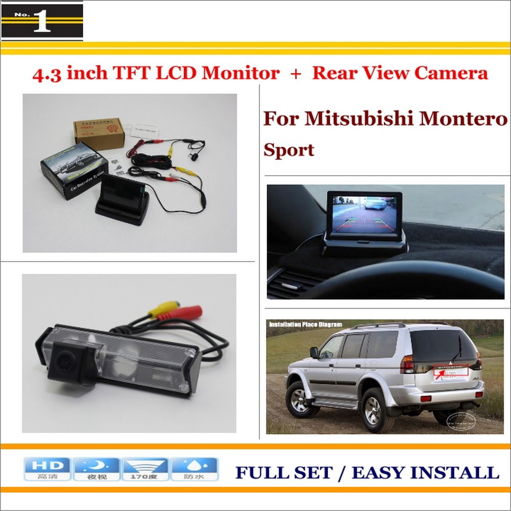 Car Rear Camera + 4.3 LCD Screen Monitor = 2 in 1 Back Up Parking System - For Mitsubishi Montero Sport<br><br>Aliexpress