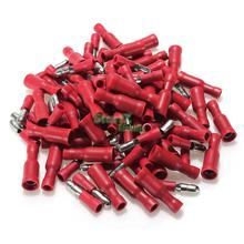 New 100pcs Red Assorted Female&Male Bullet Butt Connector Crimp Wire Terminals