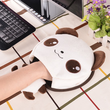 Lovely animals USB heated mouse pad soft warming heating mouse mat with wrist rest for laptop desktop computer users at Winter(China)