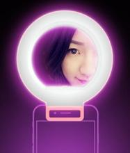 Smartphone LED Ring Selfie Light Supplementary Lighting Night Darkness Selfie Enhancing Photography