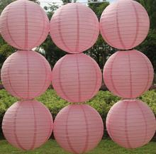 Dark Pink Style Chinese Paper Lanterns 4-6-8-10-12-14-16 Inch for Wedding Event Party Decoration Holiday Supplies Paper Ball