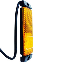 2X  Amber LED Side Marker Light Clearance Lamp 10-32v  E-marked Car Truck Trailer  Wholesale