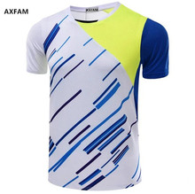 AXFAM Men Tennis Shirts 2017 Quick Dry Breathable Sports outdoor Shirt Perfect quality Badminton Table Tennis Clothing NM5050