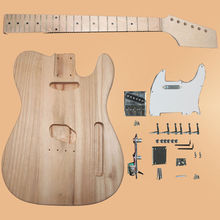 NEW DIY Electric Guitar Kit -Tele TL Style-Bubinga Guitar Body W/Neck+Pickguard-579#