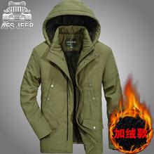 Warm Winter Jackets Mens Parkas Windbreaker 100% Nature Cotton Brand AFS JEEP Original Coats Army Military Caual Clothing(China)
