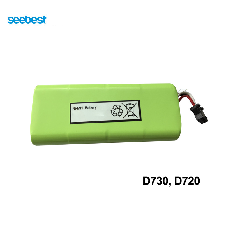 Seebest Robot Vacuum Cleaner Spare Parts Ni-mh Battery 2200mah for D730,D720<br>