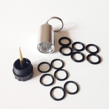 SCUBA tank keychain with 12 pcs tank valve seal ring Diving cylinder key chian