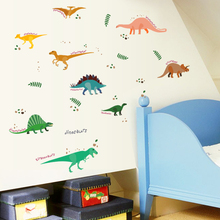 dinos wall sticker dinosaurs home decor for kids room wall sticker(China)