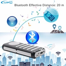 YFW 10000mAh 2 in 1 Power Bank Wireless Bluetooth Speaker Portable Charger With LED Flashlight for iPhone 6 S Samsung Xiaomi