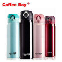 Coffee Boy Insulation Thermal Bottle For Tea 500ml Women School Vacuum Flasks Thermocup Thermo Cup stainless steel mug thermos(China)