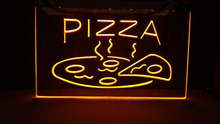 OPEN Hot Pizza Cafe Restaurant NEW carving signs Bar LED Neon Signhome decor shop crafts