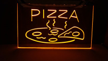 OPEN Hot Pizza Cafe Restaurant NEW carving signs Bar LED Neon Signhome decor shop crafts(China)