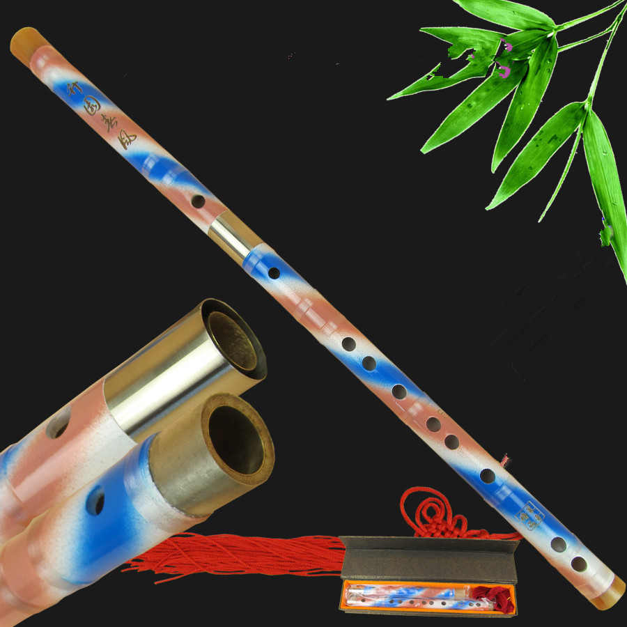 Free shipping Chinese Dizi Natural coloured bamboo flute national musical instrument CDEFG Key Professional High-end flute<br><br>Aliexpress