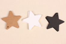 200pcs 6x6cm Kraft Paper Star Shape Jewelry Gift Handcraft Display Packaging Card Tags Hand Printing Greeting Card Labels(China)