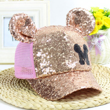 Baby Cotton Hat Kids Cute mouse become Baseball Cap Newborn Infant Boys Girls Children Soft Sequins Caps Infant Sun Hat