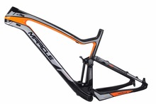 MIRACLE 29er full suspension carbon MTB frame XC Cross Country mountain bike carbon frame with BB92 UD matte or custom painting(China)
