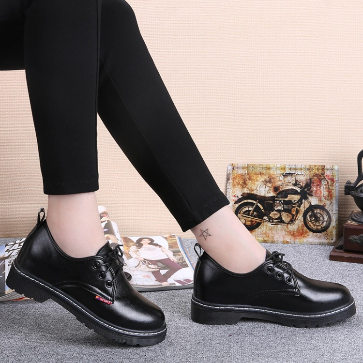 women high quality casual pu leather ankle boots lady cute low high waterproof platform shoes botas femininas spring shoes<br><br>Aliexpress
