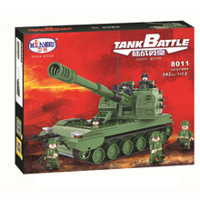 Winner 593pcs Land War Heroes Military Series Building Blocks 05 Automatic howitzer bricksToys Educational Toys For Boys Gifts(China)