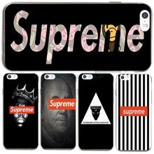 For IPhone7 7Plus 4 5S SE 6 6S Case For Fashion Popular Brand Logo Suprem Case Transparent Silicone soft slim Tpu Phone Cover