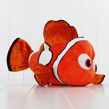 23*37cm American Cartoon Movie Finding Nemo Plush Toy Fish Nemo Stuffed Doll Animal Toys for Kids Free Shipping