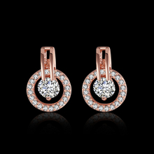 Buy E943 Fashion Women Jewelry Earrings,Rose Gold Color Cubic Zirconia Round Stud Earrings Women Wedding /Party /Gift for $3.99 in AliExpress store