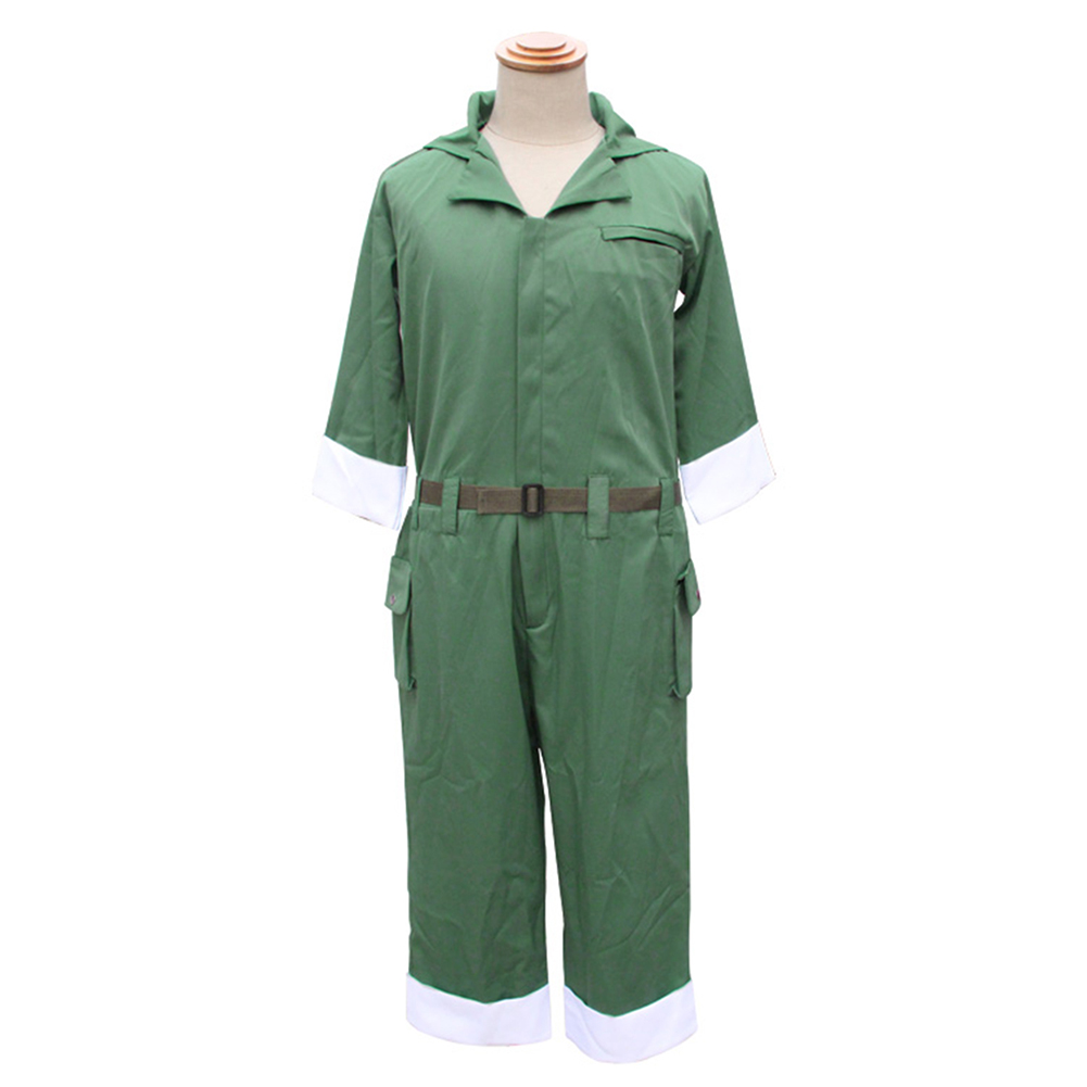 Brdwn Kagerou Project MekakuCity Actors unisex Seto Kousuke Green Jumpsuits Cosplay Costumes