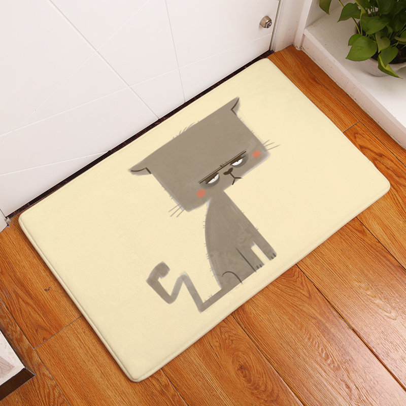 Cartoon flannel carpet cats printing mat for living room 40x60cm cartoon flannel carpet cats printing mat for living room 40x60cm 50x80cm door mat rectangle tapete us138 fandeluxe Images
