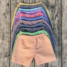 wholesale children cheap clothes online baby boutique clothing boys seersucker shorts(China)