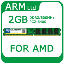 Comercio al por mayor Brand New Sealed DIMM DDR2 800 MHz/PC2 6400 2 gb de memoria ram de escritorio compatible para amd placa base buena calidad