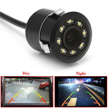 Universal 8 LED Waterproof HD CCD Car Rear View Camera Super Mini Butterfly Parking Backup Reversing Camera Night Vision(China)