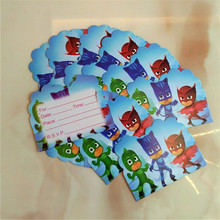10pcs  Cartoon mask theme invitation cards for children birthday party supplies decoration
