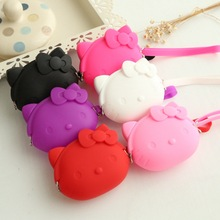 Mini Hello Kitty Coin Purse Cat Cute Female Women's Wallet Lovely Children Bags For Girls Kid Gift Bolsa