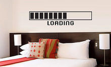 LOADING vinyl wall lettering quote deco wait funny bedroom office sticker DIY Housewares Design E542