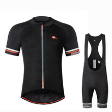 The New Outdoor Team Riding Suit  Black Short Sleeved Men's Bicycle Clothing Wholesale